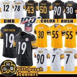 Troy jersey online-Juju Smith-Schuster Jersey Pittsburgh Devin Bush Steelers Conner 7 Ben Roethlisberger Villanueva Troy Polamalu T.J. Watt Ryan Shazier Bettis