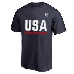 2019 usa t-shirt da basket 2019 T-shirt da basket nazionale maschile della squadra di basket degli Stati Uniti T-shirt America T-shirt con grafica T-shirt Magliette con logo degli Stati Uniti usa t-shirt da basket economici