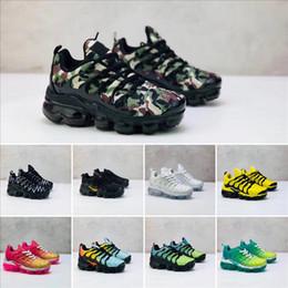 2019 scarpe pokemon Nike Air TN Plus Novità Chaussures Scarpe da corsa per bambini Tn Plus Infant grandi ragazze nere Nero Sport Run più scarpe di design TN