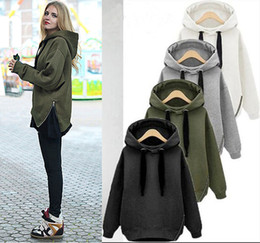 439a89444fce Letter Arm Green New Winter Autumn Loose Hooded Jacket Plus SizeThick  Velvet Long sleeve Sweatshirt Korean Style Hoodies ZIPPER design