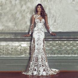 2019 dama de honor azul real fajas de cristal 2019 Nueva moda de encaje Apliques A-Line sexy perspectiva vestido de encaje Fiesta Vestido de noche Vestidos de fiesta nupciales Vestidos de baile