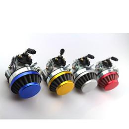 mini 49cc atv Rebajas 49cc libre del envío de 19 mm Filtro de aire del carburador Carb encaja Asamblea 47cc de 2 tiempos de 49 cc Mini Pocket Bike ATV