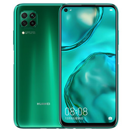"2019 smartphone en acier inoxydable Huawei d'origine Nova 6 SE 4G LTE Cell Phone 8 Go de RAM 128Go ROM Kirin 810 Octa noyau 6.4"" Plein écran 48.0MP ID d'empreintes digitales Smart Mobile Phone"