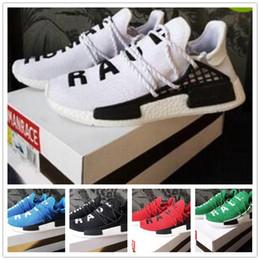 b459ce057 2018 Discount Human Race Trail Running Shoe White Black Shoe HU Trainer  Blank Cream Williams Yellow Wholesale Pharrell Sport Sneaker