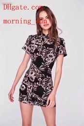 Ropa china online-Venta caliente 2019 marca vestidos de verano Impreso Delgado Cheongsam chino falda ropa de mujer de alta calidad Casual vestidos de verano monos de mujer