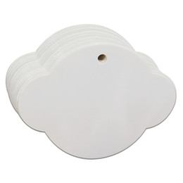 200 Pcs / lot 6.3 * 8.5cm Forme De Soucoupe Volante Blanc Papercard Hanging Tag Kraft Papier Cadeau Artisanat Souhaite Carte Épicerie Marking Label ? partir de fabricateur