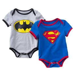 Nouvel été vente garçon garçon à manches courtes barboteuse vêtements mode bébé dessin animé combinaison barboteuse coton conception 2 couleur livraison gratuite 0-2 M ? partir de fabricateur