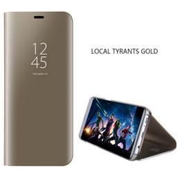 stand smart cover per iphone Sconti Smart specchio della cassa del telefono a flip per iPhone 6 6s Plus 7 Holder 8 X XS XR protettivo permanente caso per iPhone XS Max 11 Pro copertina