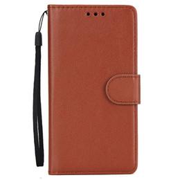 Canada Une pièce de luxe plaine portefeuille en cuir PU cas de téléphone Handcraft couture couverture pour IPhone XS Max XR X 7 8 6 6 s Plus cheap iphone cases plain leather Offre