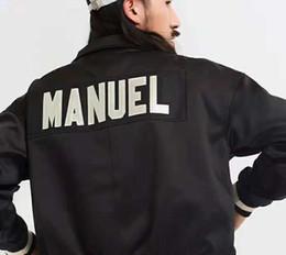 giacche da baseball di qualità uomo Sconti Giacca di alta qualità 19SS Giacca da uomo di design tuta sportiva TESTA DI DIO cappotto di marca Bieber lettera ricamo giacca da baseball Mens vestiti