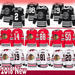 Brandon saad jersey онлайн-2019 Новый 19 Jonathan Toews 88 Patrick Kane Chicago Blackhawks Джерси 2 Дункан Кит 14 Ричард Паник 20 Брэндон Саад 50 Кори Кроуфорд Хосса