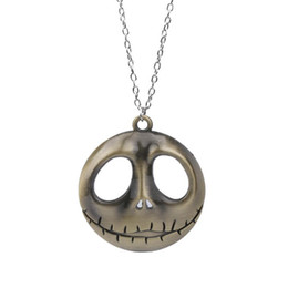 2021 дребезжащий череп designer jewelry Jack skull pendant necklace nightmare before christmas character pendant necklace for unisex hot fashion