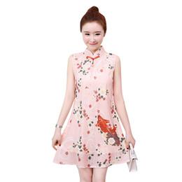 2019 Bordado Retro Cheongsam Lencería Mujeres Encaje Perspectiva Chino Qipao Vestido Cheongsam Vestido Moderno De China