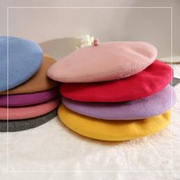 2019 cappello invernale della corea Corea autunno e inverno nuovo colore solido berretto di lana pittore cappello berretto retrò classico semplice moda classica sconti cappello invernale della corea