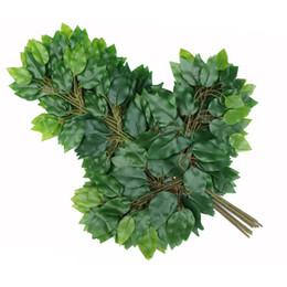 grosses balles en plastique Promotion 500 pcs Artificielle feuille décoration faux feuilles en plastique branches d'arbre simulation fleur de soie feuilles de banyan ginkgo biloba mariage