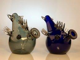 Equipamento de óleo de peixe on-line-PEÇA um tubo de água de plataforma de petróleo de bongo de vidro grosso estilizado e estiloso por zoda
