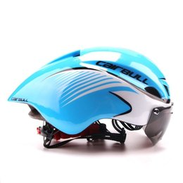 tt helmets Coupons - 3 Lens Aero 290g TT Goggles Bike Helmet Road Bicycle Sports Safety Helmet Riding Mens Racing In-Mold Time-Trial Cycling Protective Gear