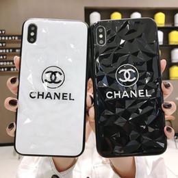 Caja del teléfono estilo diamante online-Marca de moda Funda de teléfono para iPhoneXSMAX XS XR X 7 Plus / 8 Plus 7/8 6 / 6s 6p / 6sp Estuche protector para el teléfono con cubierta protectora popular 2 estilos de diamante
