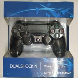 2020 controladores de jogos sem fio Controlador sem fio Bluetooth para P S4 Vibration Joystick Gamepad Game Controller para Sony Play Station com caixa de varejo desconto controladores de jogos sem fio