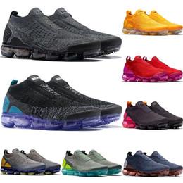 hot sale online 86e0a dfac0 Nouveau Nike Air Vapormax Flyknit 2018 Designer Chaussures Moc 2 Sans Lac  2.0 Chaussures De Course Triple Noir Blanc Fly tricoter Sports 2019 Cushion  ...
