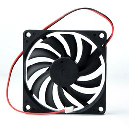 Осевой корпус онлайн-1 pcs 80mm 2 Pin DC 12Volt 2P Connector Cooling Fan  for Computer Case CPU Cooler Radiato 8010 DC Axial Flow Cooling Cooler Fan