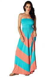 Kadınlar Straplez Chevron Bandeau İmparatorluğu Maxi Casual Korse Elbise cheap empire bodice dresses nereden imparatorluk korse elbiseleri tedarikçiler