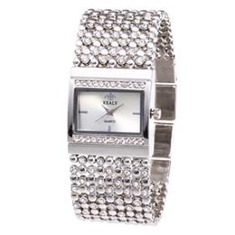 Женские часы ремень онлайн- Ladies Metal Quartz Mesh Belt Rectangle Dial With Diamond Women Watche Women Watches Stainless Steel Casual Watches