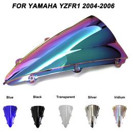 parabrezza r1 Sconti Vetri del parabrezza del parabrezza del motociclo Bulloni Accessori per Yamaha YZF-R1 YZF R1 2004 2005 2006 deflettori del vento di Iridium