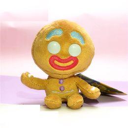 pantofole animali imbottiti Sconti Creativo Gingerbread Man peluche della bambola 12cm Anime collezione delle bambole molli Portachiavi Pendenti migliori regali Peluches L456