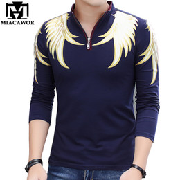 camisetas polo Coupons - New 2018 Fashion Men Polo Shirts Cotton Slim Fit Camisa Polo Print Casual Shirts Long -Sleeves Camisetas Brand Clothing Mt551