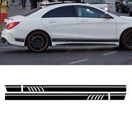 2019 decalques laterais Um Par Esporte Side Stripes Decal Adesivo para Mercedes-Benz W117 C117 X117 CLA-AMG decalques laterais barato