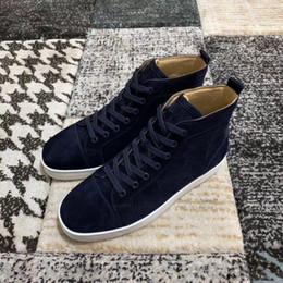 Argentina Zapatillas de deporte superiores de cuero azul marino de gamuza más baratas Mujeres de alta calidad, hombres que caminan ocasionalmente, pisos de ocio con cordones cheap navy blue shoe laces Suministro