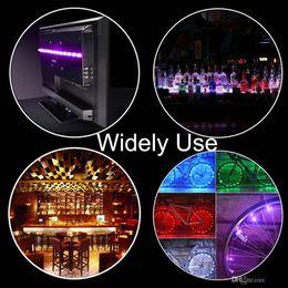 batterie leuchtet Rabatt Heißes batteriebetriebenes USB-LED-Lichtband RGB SMD 5050 30 LEDs / M IP65 wasserdichtes flexibles Farbwechsel-Licht mit Mini-Controller