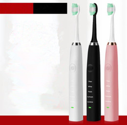 2019 cepillo de dientes eléctrico ultrasónico impermeable 3COLOR Higiene  Bucal Cepillo Dental Impermeable Limpiador Dental Cepillo e5613aef6fa3