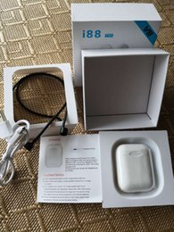 Оригинальные беспроводные наушники TWS i88 Mini Air Bluetooth Наушники Гарнитура True Wireless Sport gen1 Стручки 5.0 Наушники Наушники Для Iphone X 8 от Поставщики оригинальные наушники sony