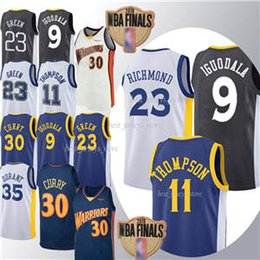 2019 camiseta de baloncesto de curry ADD parche 30 Curry 35 Durant jersey 23 Verde 11 Thompson 9 lguodala camisa jerseys del baloncesto 2019 Top MEN rebajas camiseta de baloncesto de curry