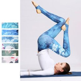Canada Impression 3D Motif De Fleurs Étape Pied Pantalon Haut Élastique Extensible 4-8cm Pantalon Serré Sports De Plein Air Body Building Leggings Danse Pantalon De Yoga Offre