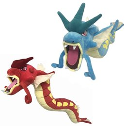 video red Promo Codes - 24 inch Pokemons Super Gyarados Plush toys Soft stuffed cute Grab machine Doll For Children birthday best gift lol