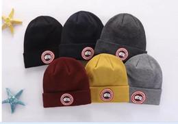 Sıcak satış En kaliteli Yeni moda marka KANADA erkekler örme şapka klasik spor kafatası kapaklar kadınlar rahat sıcak gorros Bonnet GOOs kas ... nereden