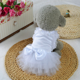 Abiti per cani Abiti da sposa per cani Gatti per feste di matrimonio Mostra articoli per animali Vestiti per cani di piccola taglia 100% cotone Pet Dog da tessuti per tappi fornitori