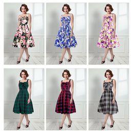 182168797 6 estilos Novas mulheres elegantes vestidos de roupas de verão mulheres  moda flor padrão listrado lady party casual férias à beira-mar vestido  desconto à ...