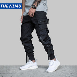 c7394c9c39 Hip Hip Streetwear Pantalones Joggers de carga negros para hombres 2019 Hombres  Estilo militar Pantalones de camuflaje casuales Pantalones Harem Pant WJ221  ...