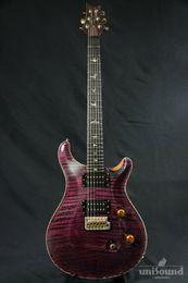 Красная электрогитара онлайн-Пользовательские 24 Библиотека 10 Top Limited Красный Фиолетовый Электрогитара Flame Maple Top Signature Smith 24 лада China Made Guitars