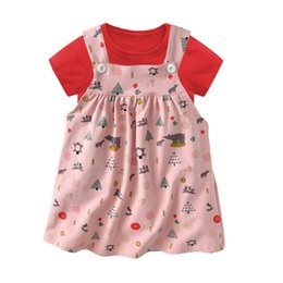 b53d40b748b4 Cotton Summer baby girl designer clothes girls dresses newborn baby girl  clothes baby girl sets Short sleeve T shirt+ floral dress A2694