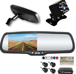 "rear view camera sensors lcd kit Coupons - 4.3"" LCD Car Rear View Replacement Mirror Monitor with Rear Backup Camera visible park sensor System Kit + Bracket for Golf 4"