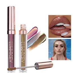 rossetto opaco rosa scuro Sconti 2019 sexy lunga di modo impermeabile Rossetto Lasting Cosmesi Donna nuda Matte Metallic Shimmer Lip Gloss Red Lip Donne Rosa