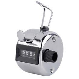 medidor de luz sonora Desconto Frete grátis 480pc / lot Metalic 4 dígitos Número Clicker Mão Tally Contador para Golf