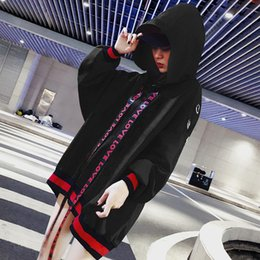3ab0e7b76b1 Autumn winter women s new long-sleeved bf fashion loose-fitting hoodie  fleece patchwork letter printed ribbon student sweater