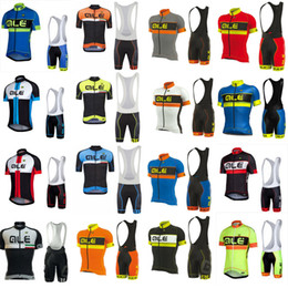 Mode radfahren trikot online-ALE Team Radtrikot mit kurzen Ärmeln Atmungsaktive Shorts Sets Schnelltrocknende Mode Slim Fit Outdoor-Sportbekleidung X71301