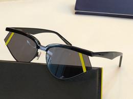 gafas de sol de ojo de gato pequeño Rebajas 0369 Gafas de sol de lujo para las mujeres Protección UV Especial Mujeres Diseñador Vintage Pequeño Gato Ojo Marco de Calidad Superior Vienen Con el Paquete